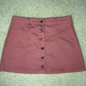 Pink buttoned up skirt